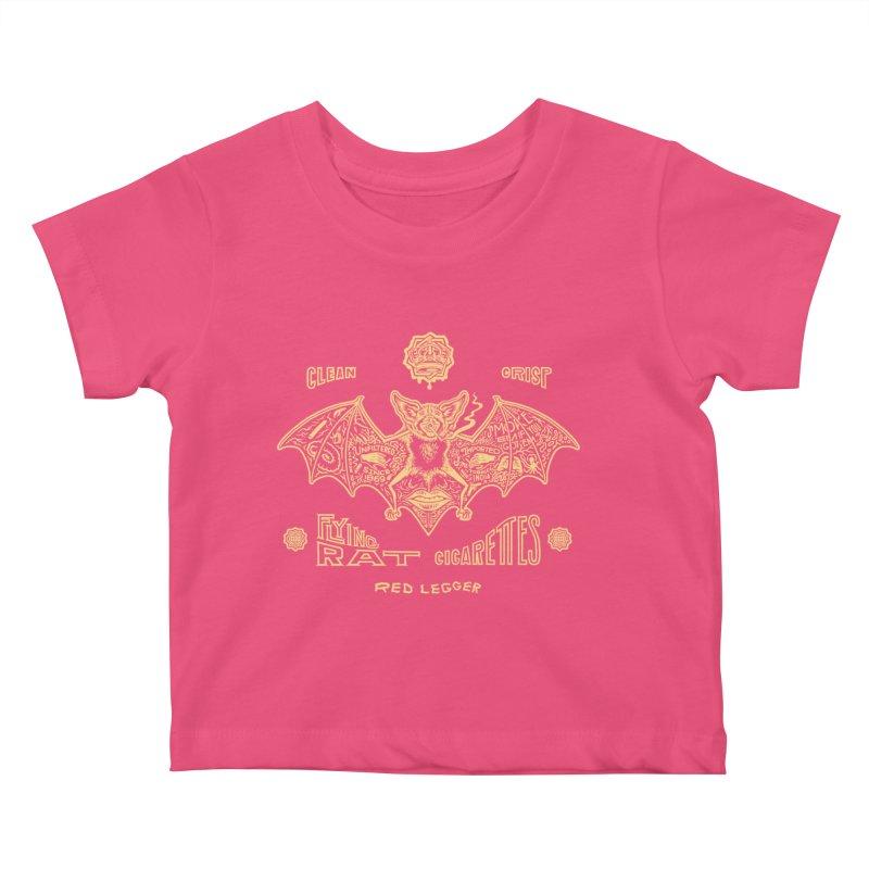 Flying Rat Kids Baby T-Shirt by redleggerstudio's Shop