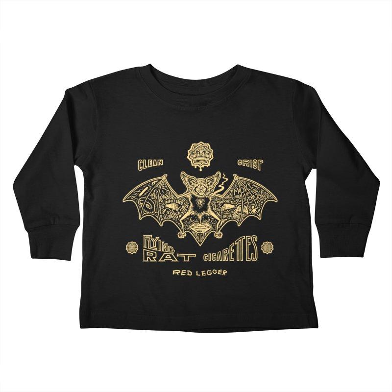Flying Rat Kids Toddler Longsleeve T-Shirt by redleggerstudio's Shop