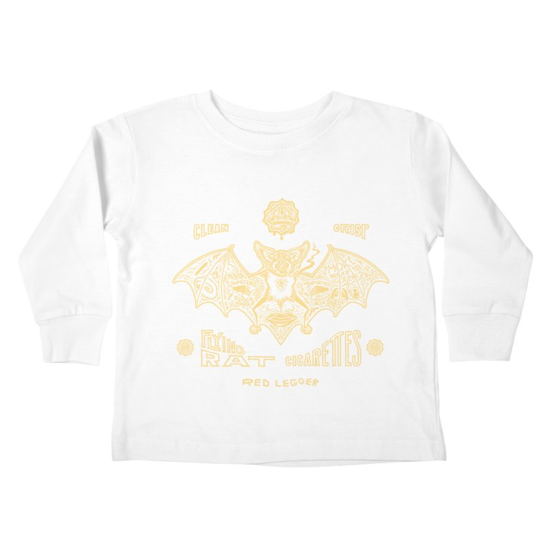 Flying Rat Kids Toddler Longsleeve T-Shirt by redleggerstudio's Shop