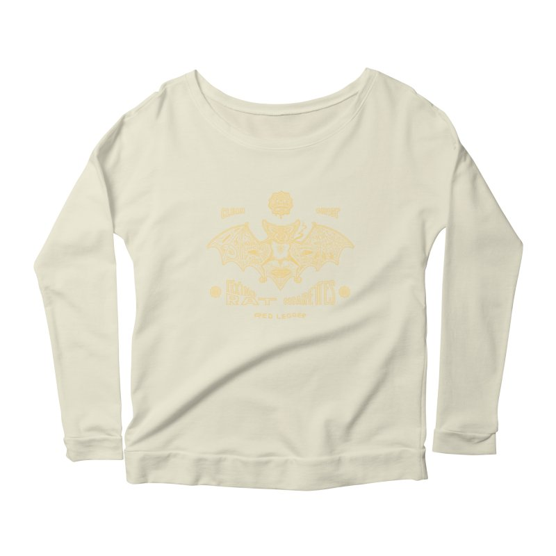 Flying Rat Women's Scoop Neck Longsleeve T-Shirt by redleggerstudio's Shop