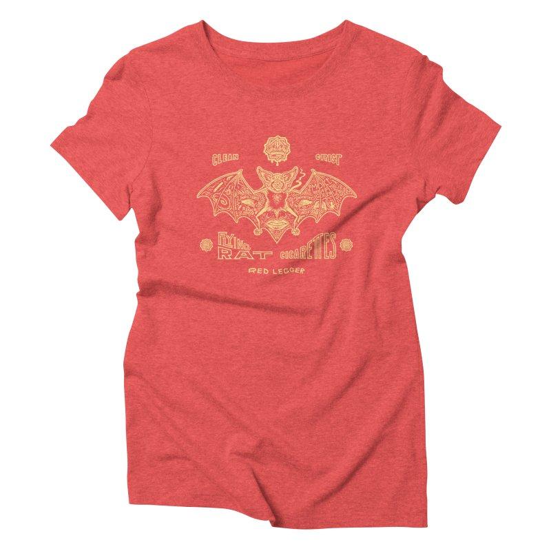 Flying Rat Women's Triblend T-Shirt by redleggerstudio's Shop