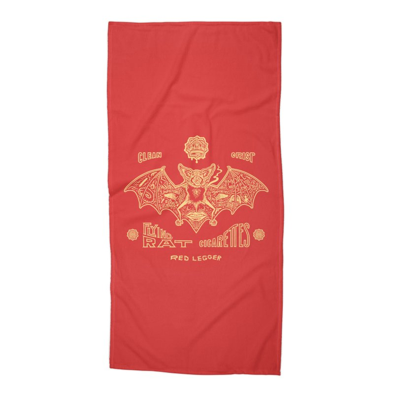 Flying Rat Accessories Beach Towel by redleggerstudio's Shop