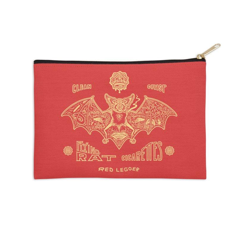 Flying Rat Accessories Zip Pouch by redleggerstudio's Shop