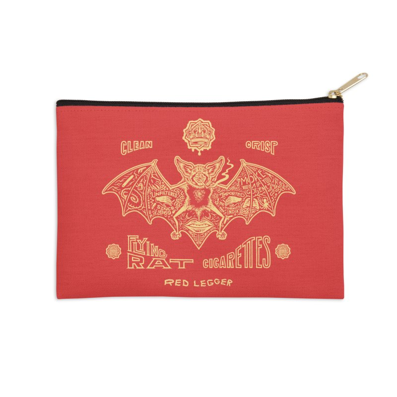 Flying Rat Accessories Zip Pouch by redleggerstudio's Shop