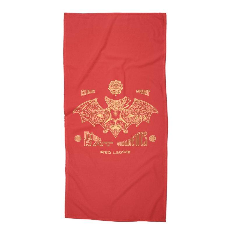 Flying Rat Accessories Beach Towel by redleggerstudio's Shop