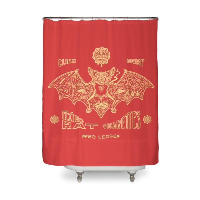 Flying Rat Home Shower Curtain by redleggerstudio's Shop