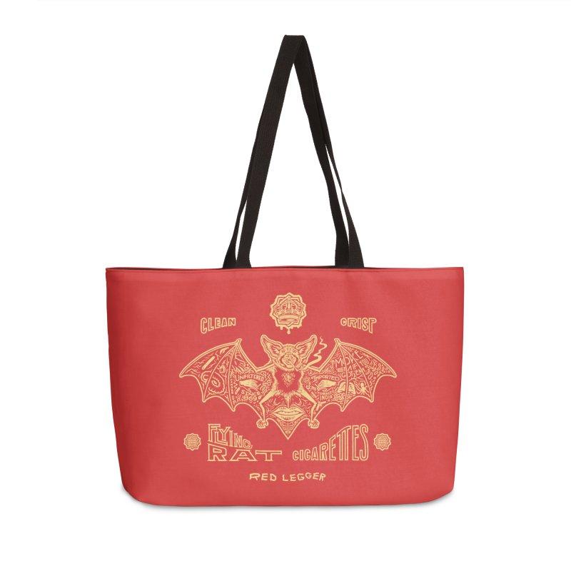 Flying Rat Accessories Weekender Bag Bag by redleggerstudio's Shop