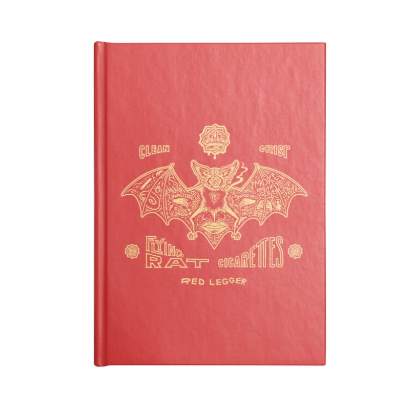 Flying Rat Accessories Blank Journal Notebook by redleggerstudio's Shop