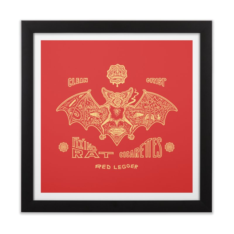 Flying Rat Home Framed Fine Art Print by redleggerstudio's Shop