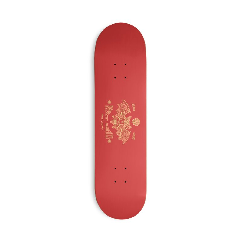 Flying Rat Accessories Deck Only Skateboard by redleggerstudio's Shop
