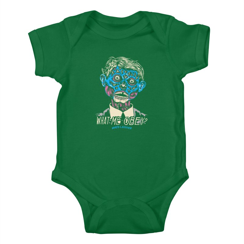 What-Me OBEY? Kids Baby Bodysuit by redleggerstudio's Shop