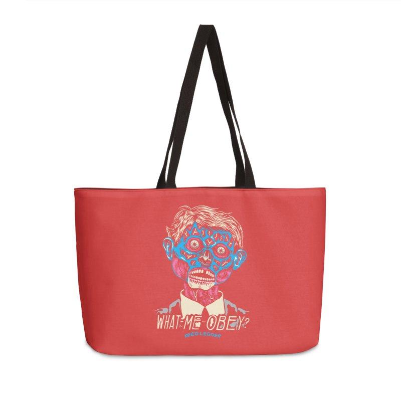 What-Me OBEY? Accessories Weekender Bag Bag by redleggerstudio's Shop