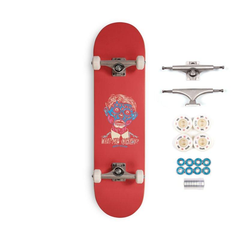 What-Me OBEY? Accessories Complete - Premium Skateboard by redleggerstudio's Shop