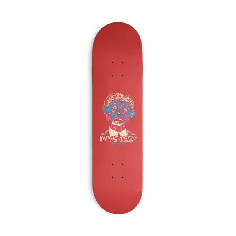 What-Me OBEY? Accessories Deck Only Skateboard by redleggerstudio's Shop