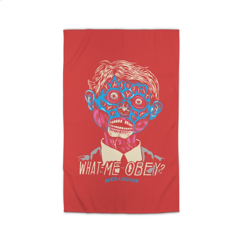 What-Me OBEY? Home Rug by redleggerstudio's Shop