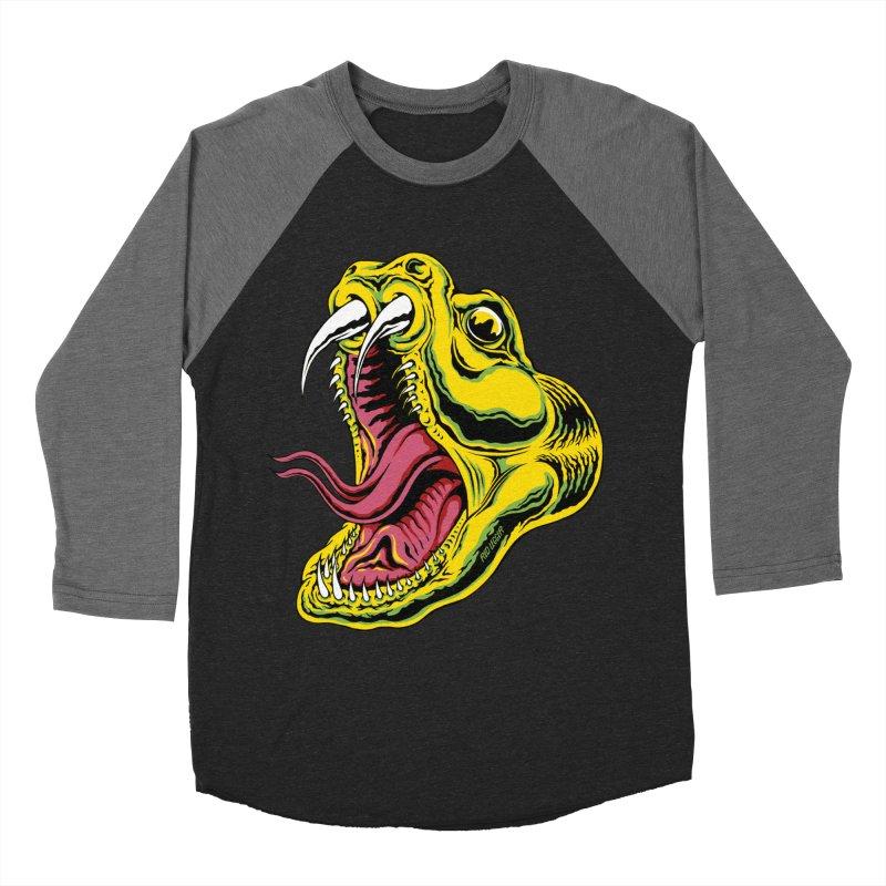 Snake Bite in Men's Baseball Triblend Longsleeve T-Shirt Grey Triblend Sleeves by redleggerstudio's Shop