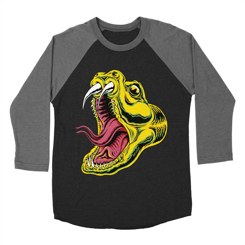 Snake Bite in Men's Baseball Triblend Longsleeve T-Shirt Grey Triblend Sleeves by redleggerstudio's Shop