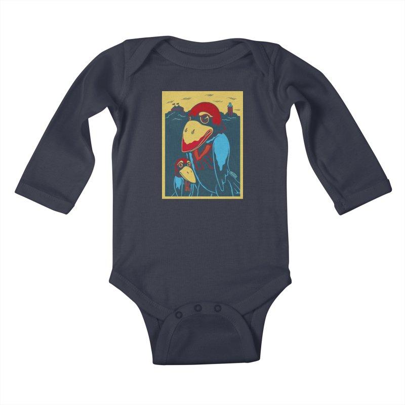 The Jays Kids Baby Longsleeve Bodysuit by redleggerstudio's Shop