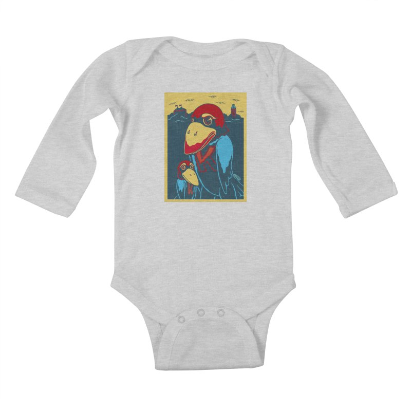 The Jays Kids Baby Longsleeve Bodysuit by redleggerstudio's Shop