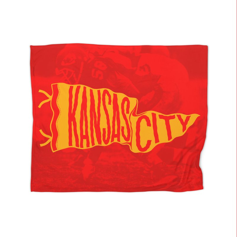 Kansas City Pennant No. 1 Home Fleece Blanket Blanket by redleggerstudio's Shop