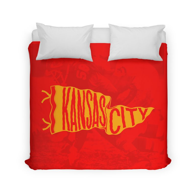 Kansas City Pennant No. 1 Home Duvet by redleggerstudio's Shop