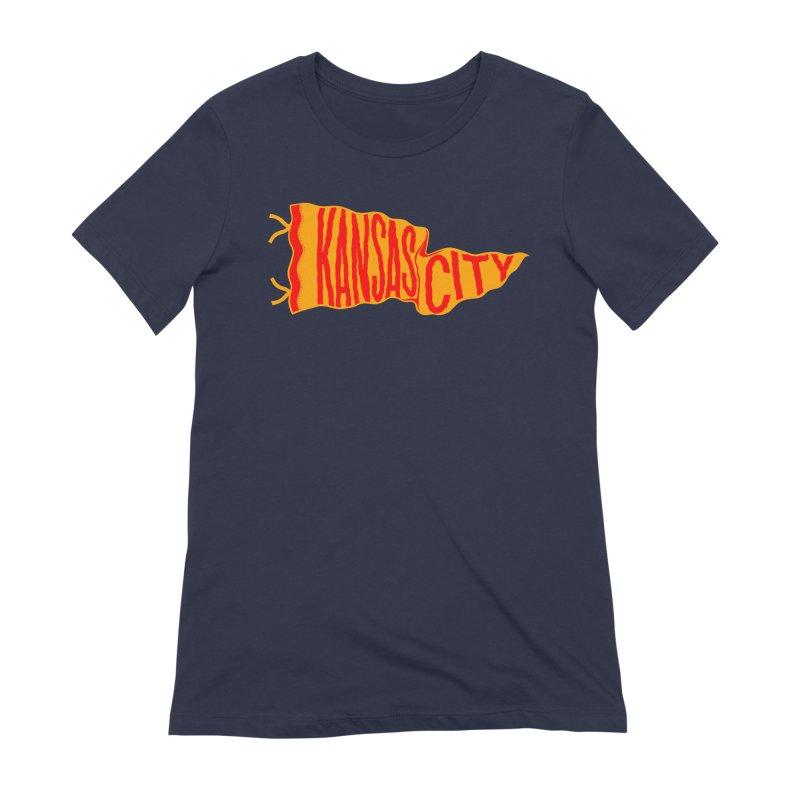 Kansas City Pennant No. 1 Women's Extra Soft T-Shirt by redleggerstudio's Shop