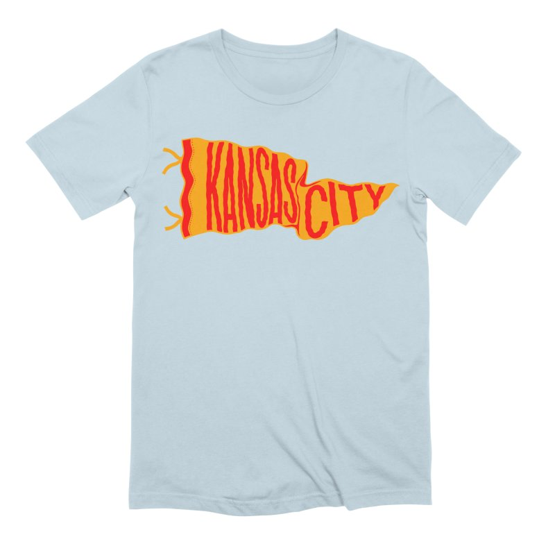 Kansas City Pennant No. 1 Men's Extra Soft T-Shirt by redleggerstudio's Shop