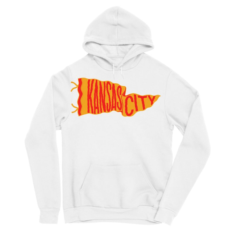 Kansas City Pennant No. 1 Men's Sponge Fleece Pullover Hoody by redleggerstudio's Shop
