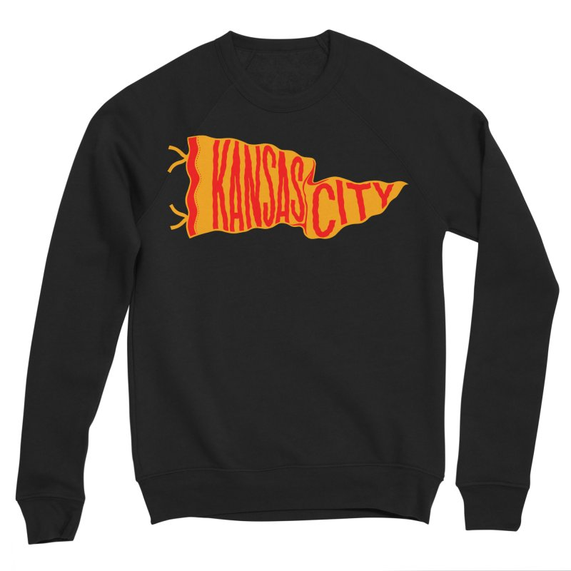 Kansas City Pennant No. 1 Men's Sponge Fleece Sweatshirt by redleggerstudio's Shop