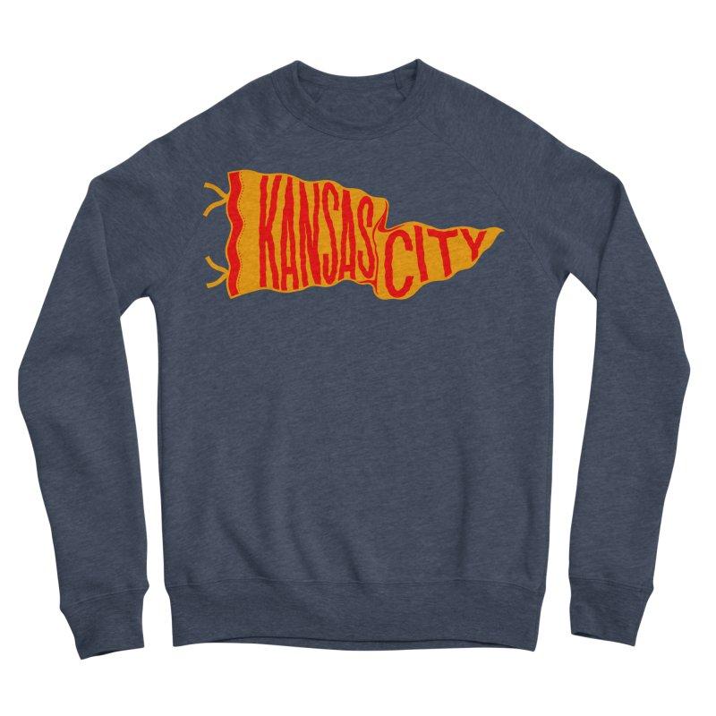 Kansas City Pennant No. 1 Women's Sponge Fleece Sweatshirt by redleggerstudio's Shop