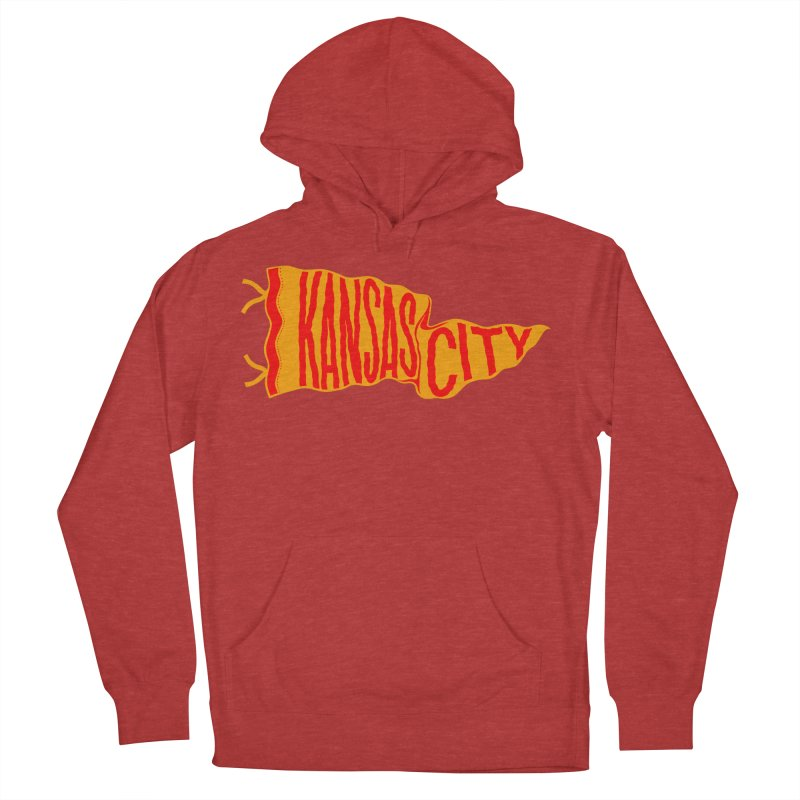 Kansas City Pennant No. 1 Women's French Terry Pullover Hoody by redleggerstudio's Shop
