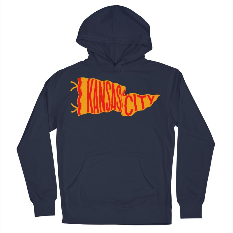 Kansas City Pennant No. 1 Men's French Terry Pullover Hoody by redleggerstudio's Shop