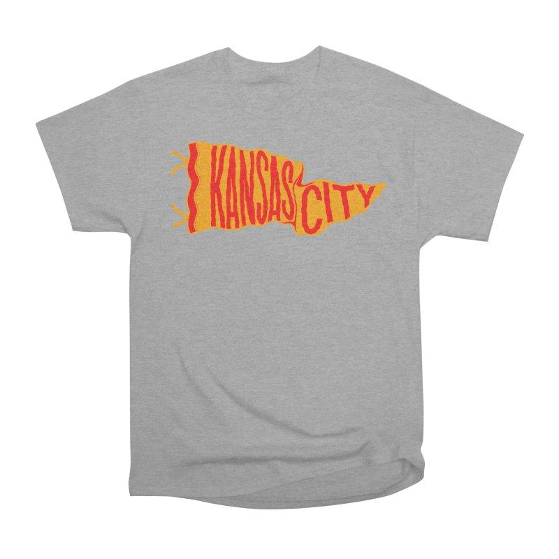 Kansas City Pennant No. 1 Women's Heavyweight Unisex T-Shirt by redleggerstudio's Shop