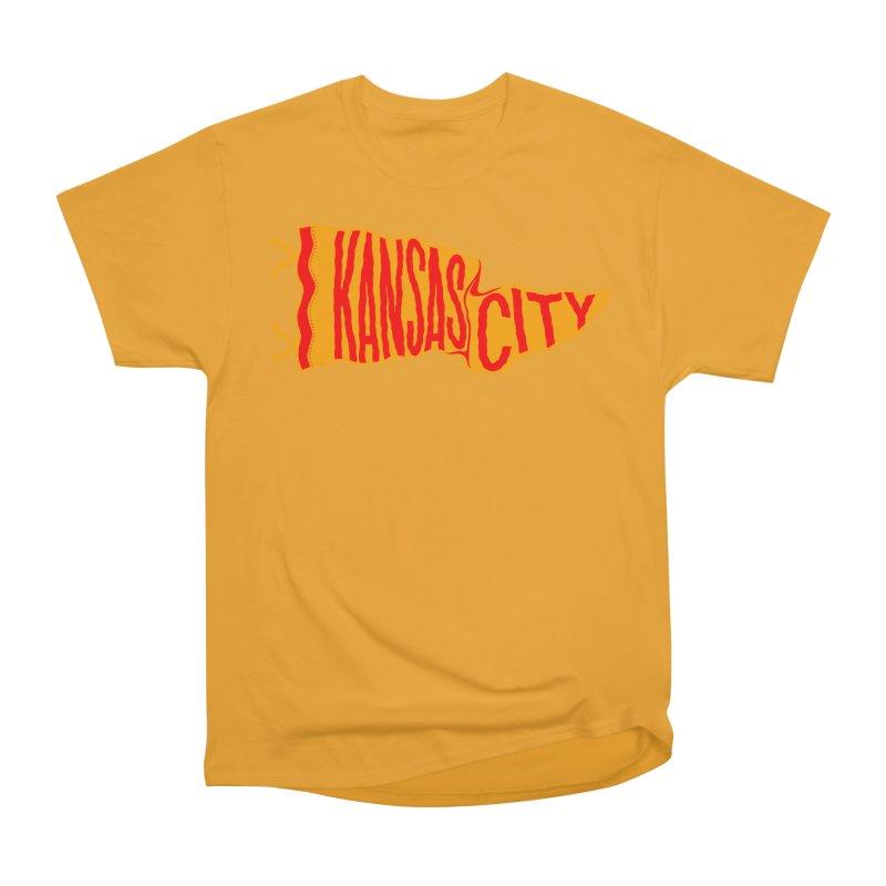 Kansas City Pennant No. 1 Men's Heavyweight T-Shirt by redleggerstudio's Shop