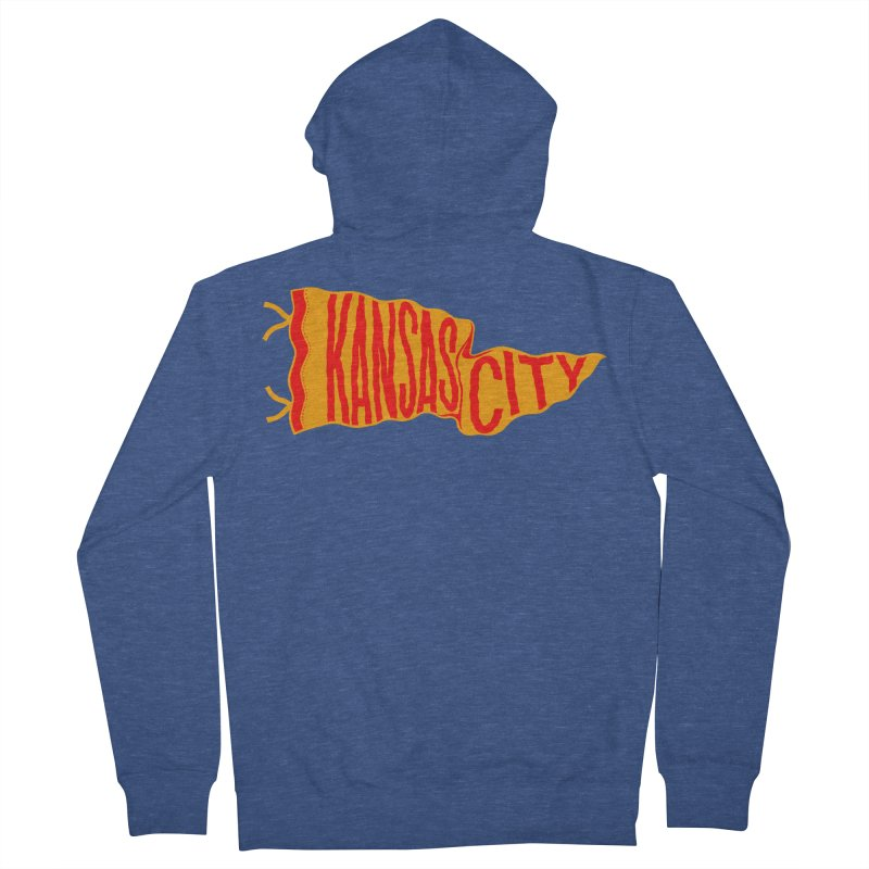 Kansas City Pennant No. 1 Women's French Terry Zip-Up Hoody by redleggerstudio's Shop