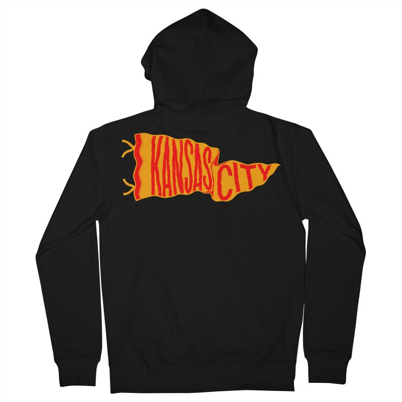 Kansas City Pennant No. 1 Men's French Terry Zip-Up Hoody by redleggerstudio's Shop