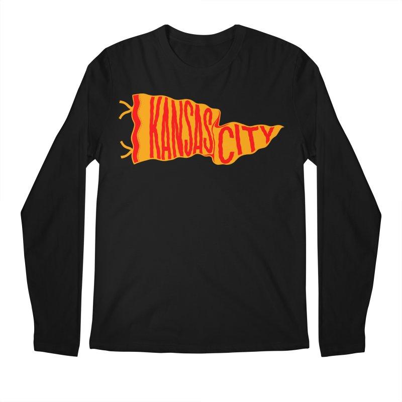 Kansas City Pennant No. 1 Men's Regular Longsleeve T-Shirt by redleggerstudio's Shop