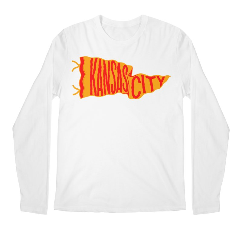 Kansas City Pennant No. 1 Men's Regular Longsleeve T-Shirt by redleggerstudio's Shop