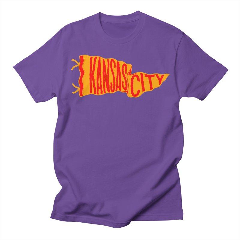 Kansas City Pennant No. 1 Men's Regular T-Shirt by redleggerstudio's Shop