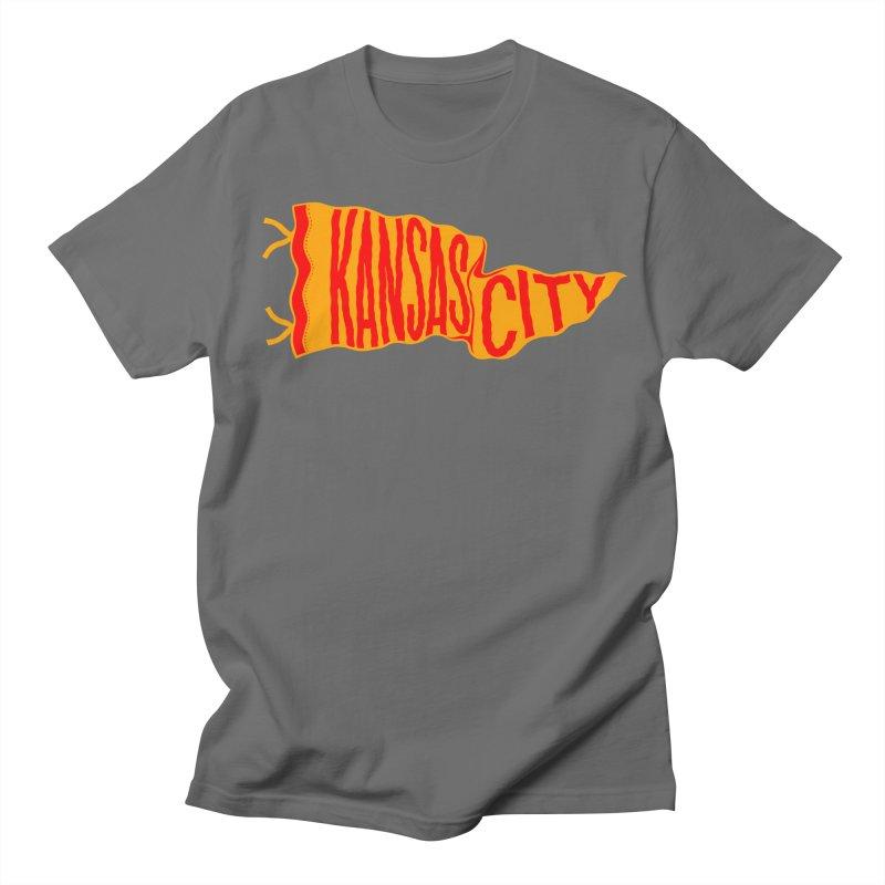 Kansas City Pennant No. 1 Women's Regular Unisex T-Shirt by redleggerstudio's Shop