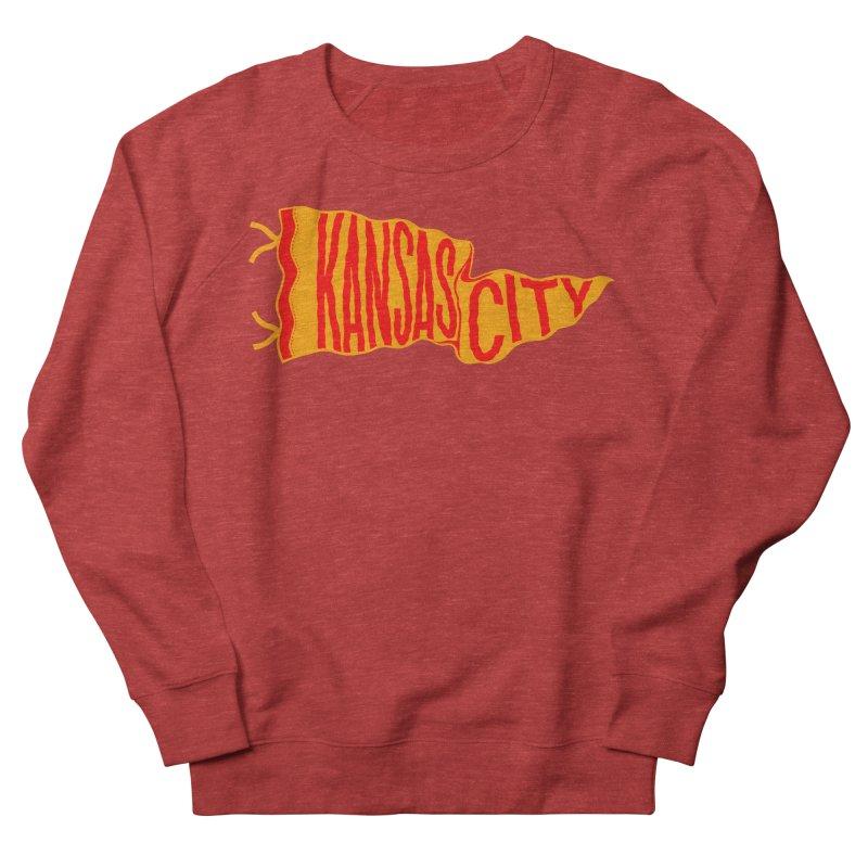 Kansas City Pennant No. 1 Women's French Terry Sweatshirt by redleggerstudio's Shop