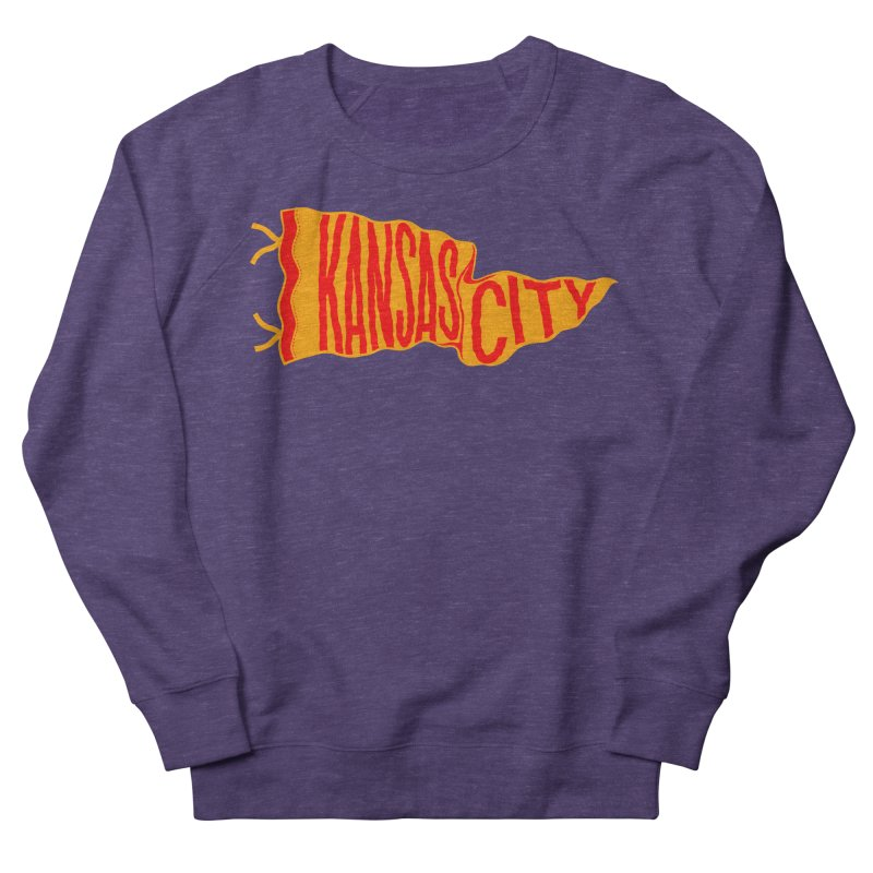 Kansas City Pennant No. 1 Men's French Terry Sweatshirt by redleggerstudio's Shop