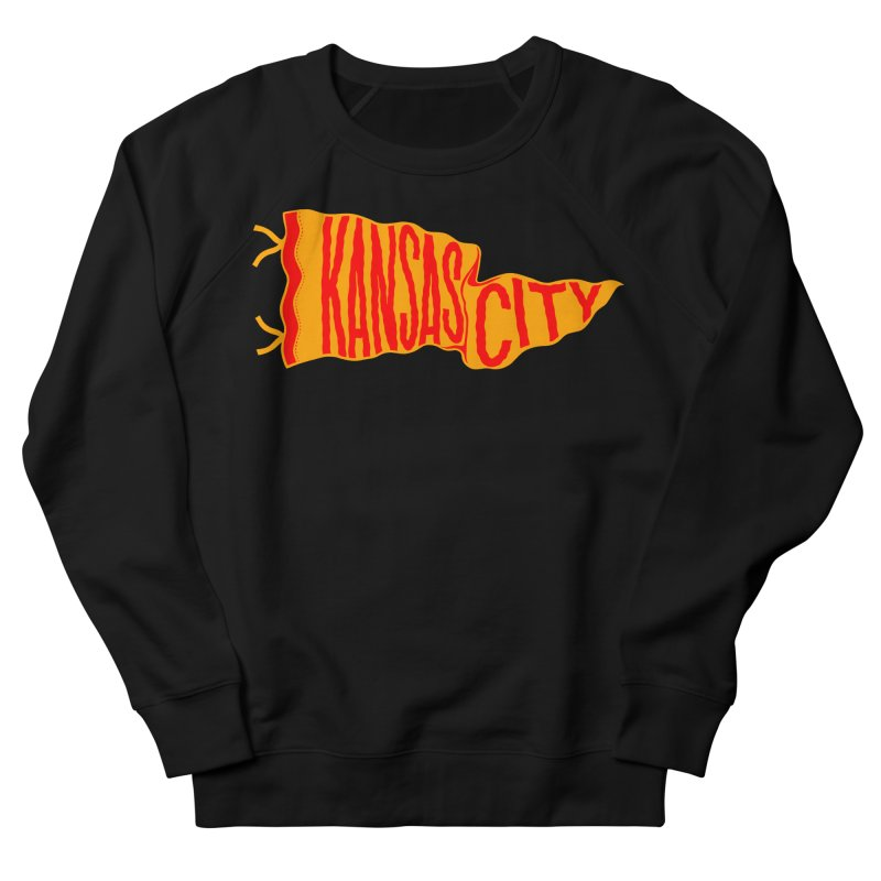 Kansas City Pennant No. 1 Men's French Terry Sweatshirt by redleggerstudio's Shop