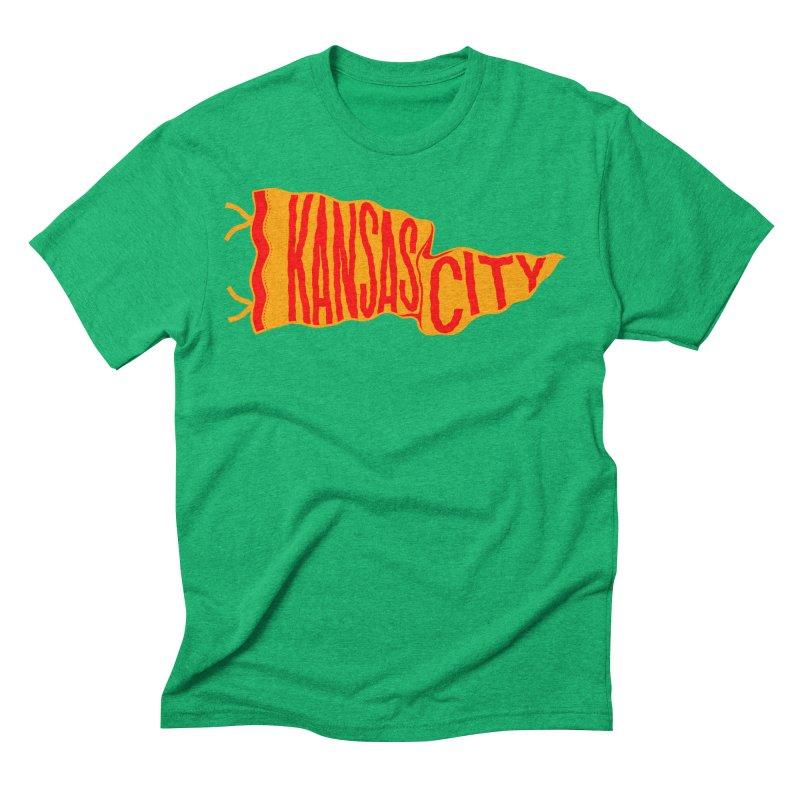 Kansas City Pennant No. 1 Men's Triblend T-Shirt by redleggerstudio's Shop