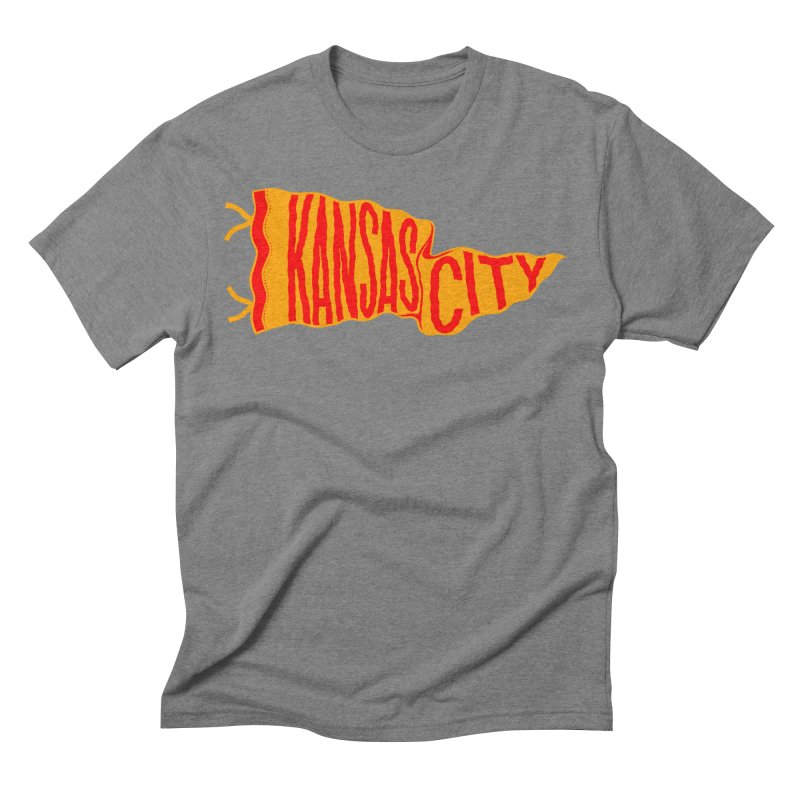 Kansas City Pennant No. 1 Men's Triblend T-Shirt by redleggerstudio's Shop
