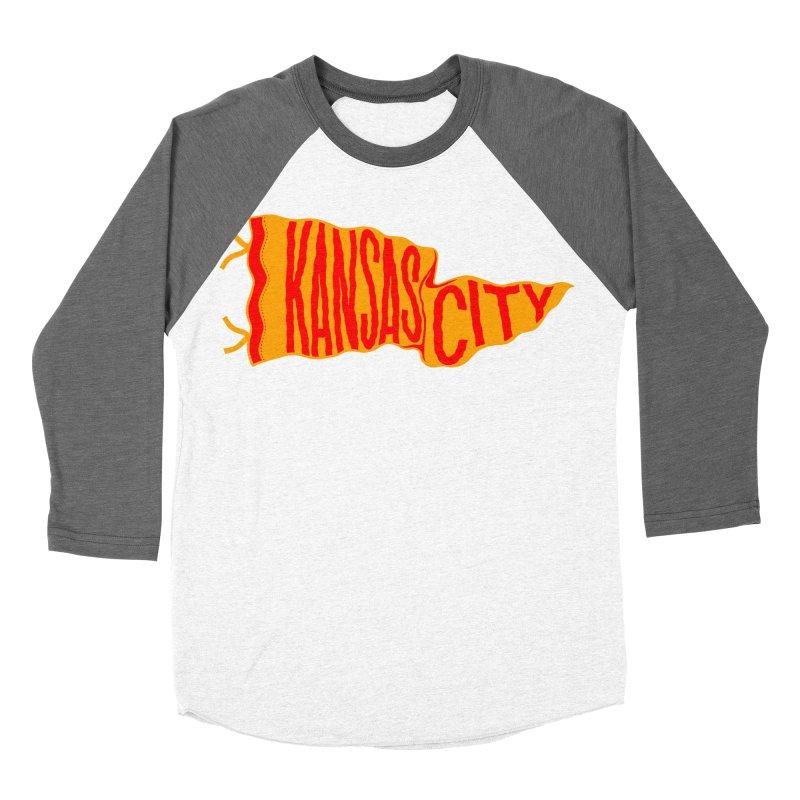 Kansas City Pennant No. 1 Women's Baseball Triblend Longsleeve T-Shirt by redleggerstudio's Shop