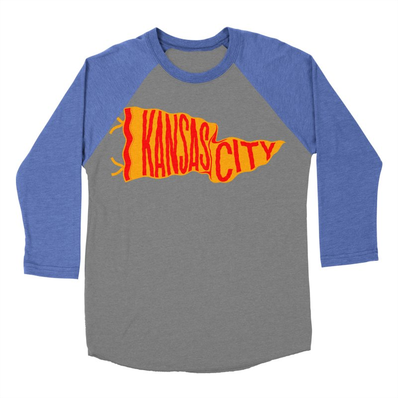 Kansas City Pennant No. 1 Women's Baseball Triblend Longsleeve T-Shirt by redleggerstudio's Shop
