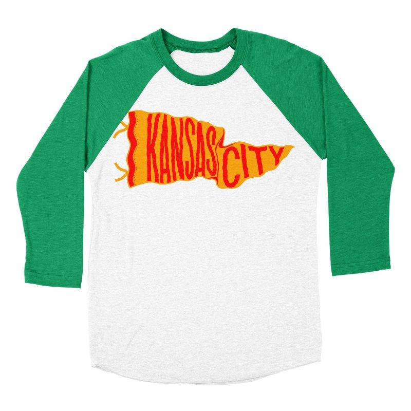 Kansas City Pennant No. 1 Men's Baseball Triblend Longsleeve T-Shirt by redleggerstudio's Shop