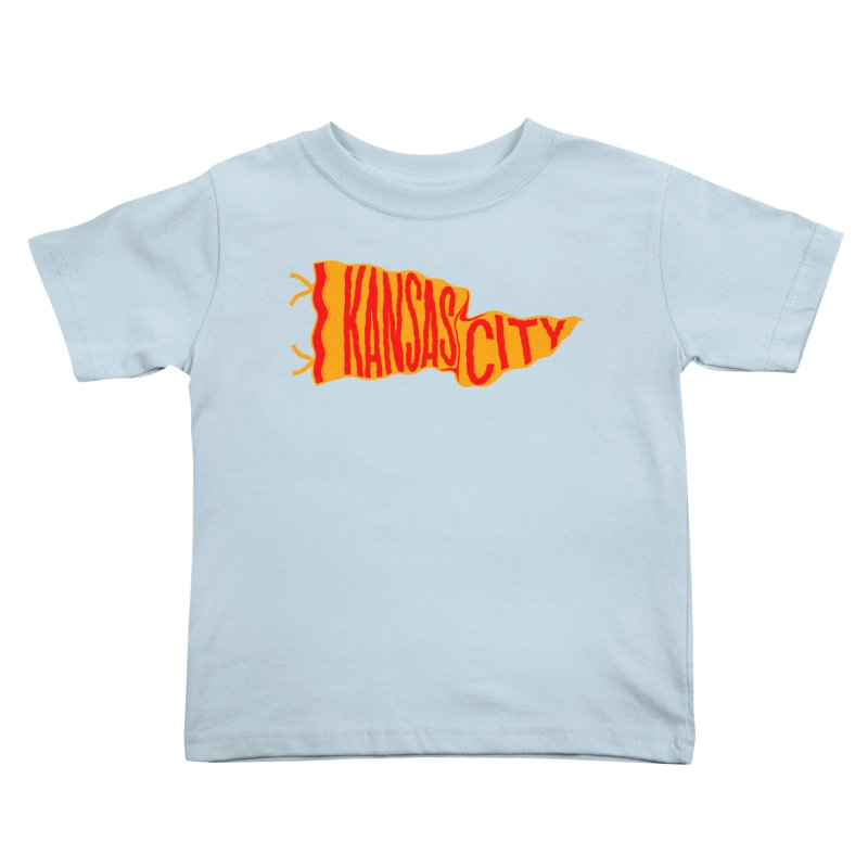 Kansas City Pennant No. 1 Kids Toddler T-Shirt by redleggerstudio's Shop