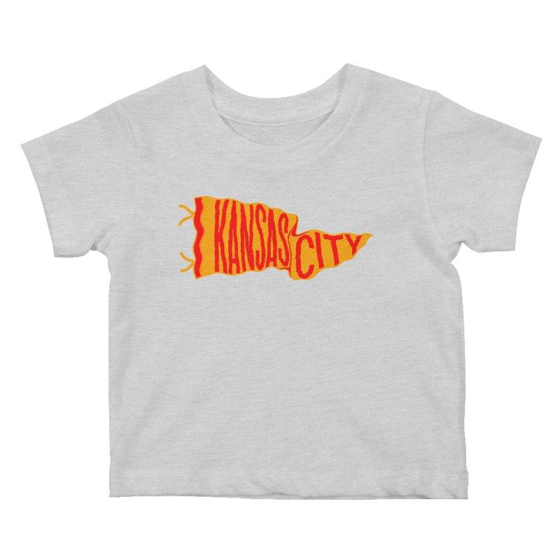 Kansas City Pennant No. 1 Kids Baby T-Shirt by redleggerstudio's Shop